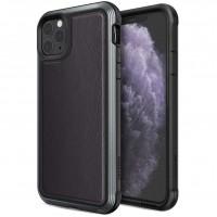 Чехол Defense Lux Series (TPU+Metal+Leather) для Apple iPhone 11 Pro Max (6.5'') Черный (21607)