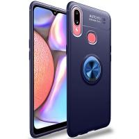 TPU чехол Deen ColorRing под магнитный держатель (opp) для Samsung Galaxy A10s Синий (17779)
