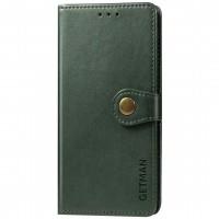 Кожаный чехол книжка GETMAN Gallant (PU) для Blackview A80S Зелёный (22202)