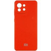 Чехол Silicone Cover Full Camera (AA) для Xiaomi Mi 11 Lite Оранжевый (21661)