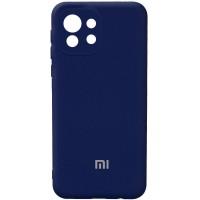 Чехол Silicone Cover Full Camera (AA) для Xiaomi Mi 11 Lite Синий (21657)