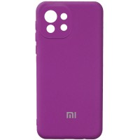Чехол Silicone Cover Full Camera (AA) для Xiaomi Mi 11 Lite Фиолетовый (21656)