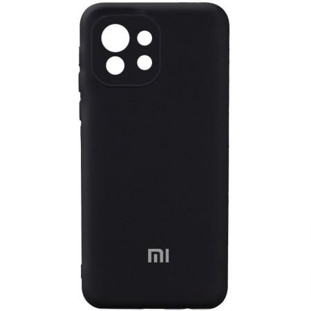 Чехол Silicone Cover Full Camera (AA) для Xiaomi Mi 11 Lite Черный (21662)