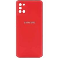 Чехол Silicone Cover My Color Full Camera (A) для Samsung Galaxy A31 Красный (21668)