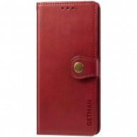 Кожаный чехол книжка GETMAN Gallant (PU) для ZTE Blade A71 Красный (23103)