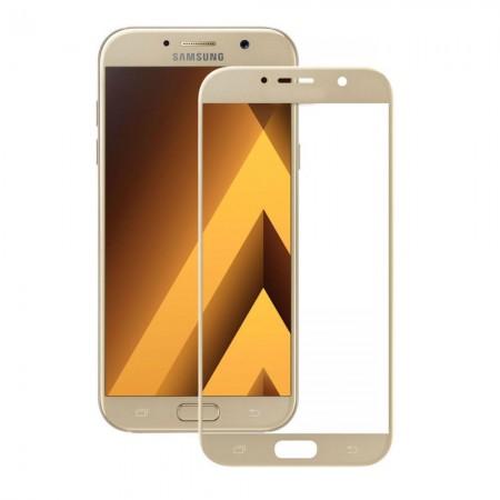Защитное стекло Rinco для Samsung A3 2017 (A320) Золотое (1069)