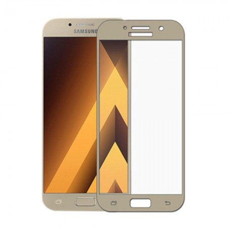 Защитное стекло Rinco для Samsung A5 2017 (A520) Золотое (1063)