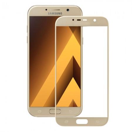 Защитное стекло Rinco для Samsung A7 2017 (A720) Золотое (1066)