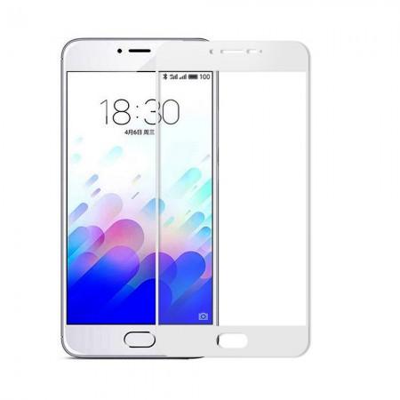 Защитное стекло Full Cover для Meizu M3 Note WHITE (белое)