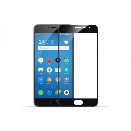 Защитное стекло Full Cover для Meizu Pro 6 BLACK (черное)