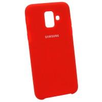 Чехол Soft-touch для Samsung A6 2018 A600 Красный (3173)