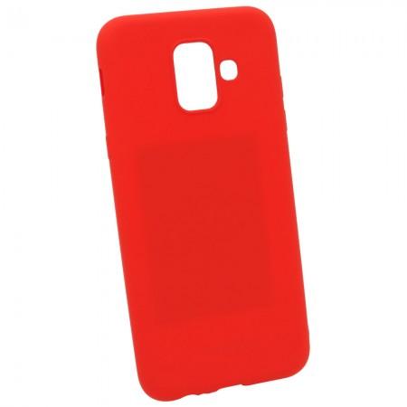 Чехол для Samsung A6 2018 A600f Красный (3451)