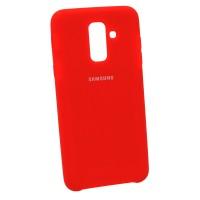 Чехол Soft-touch для Samsung A6+ 2018 A605 Красный (3171)