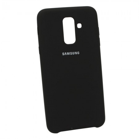 Чехол Soft-touch для Samsung A6+ 2018 A605f Черный (3614)