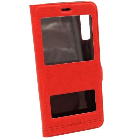 Чехол-книжка для Samsung A7 2018 A750 Momax Красный (3769)