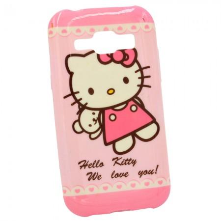 Чехол для Samsung J1 2015 J100h Hello Kitty (1007)