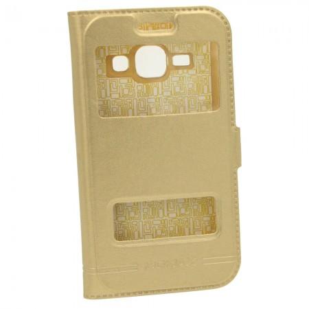 Чехол-книжка для Samsung J1 Mini J105h Momax Золотой (1212)
