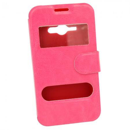 Чехол-книжка для Samsung J1 Ace J110h Розовый (849)