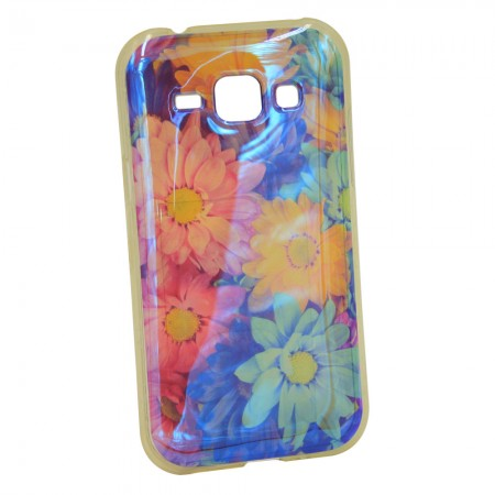 Чехол для Samsung J1 2015 J100h Цветы (1001)