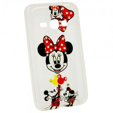 Чехол для Samsung J1 2016 J120 Minnie Mouse (1504_2)