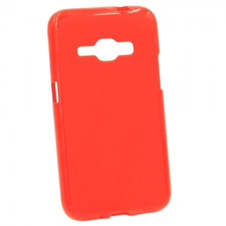 Чехол для Samsung J1 2016 J120 Gum Красный (2253)