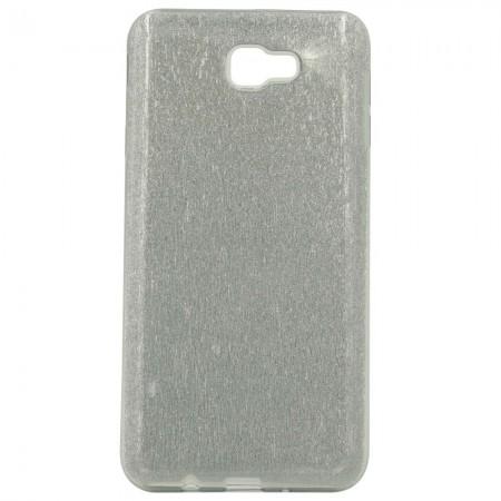 Чехол для Samsung J7 Prime G610f Блестки Серебристый (838)