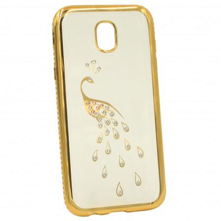 Чехол для Samsung J5 2017 J530 Swarovski Золотой (1849)