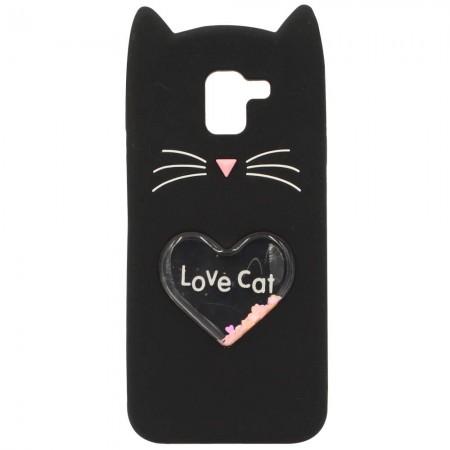 Чехол для Samsung J6 2018 J600 Love Cat Чёрный (3461)
