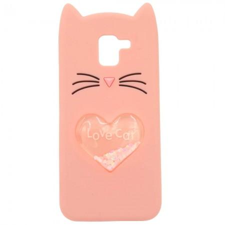 Чехол для Samsung J6 2018 J600 Love Cat Розовый (3462)