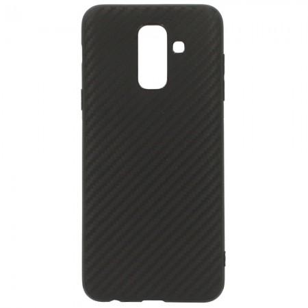 Чехол для Samsung J8 2018 Carbon Чёрный (3742)
