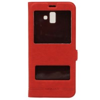 Чехол-книжка для Samsung J6 Plus J610f Momax Красный (3774)