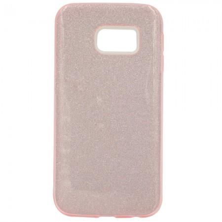 Чехол для Samsung S6 edge Блестки Розовый (2047)