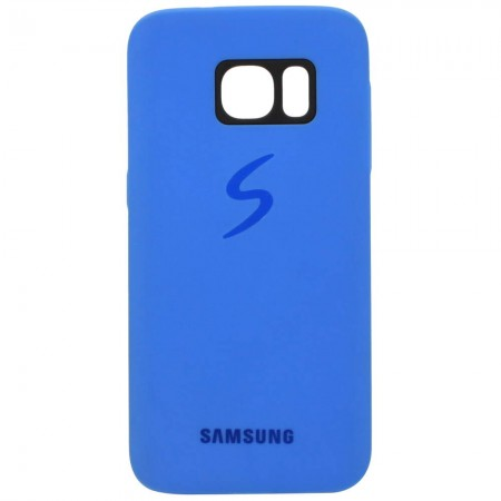 Чехол для Samsung S7 Силиконовый Синий (1499)