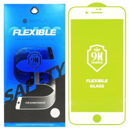 Гибкое защитное стекло BestSuit Flexible для Apple iPhone 7/8 WHITE Белое