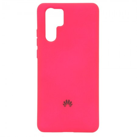 Чехол Silicone Case для Huawei P30 Pro Малиновый (4398)
