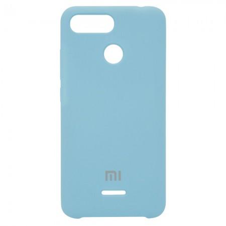 Чехол Silicone Case для Xiaomi Redmi 6 (Blue) Голубой (4206)