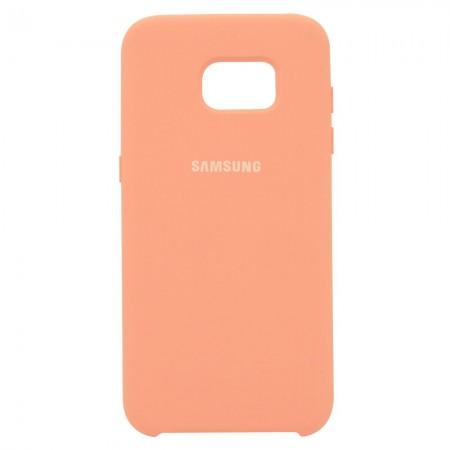 Чехол Silicone Case для Samsung Galaxy S7 Edge Персиковый (4521)