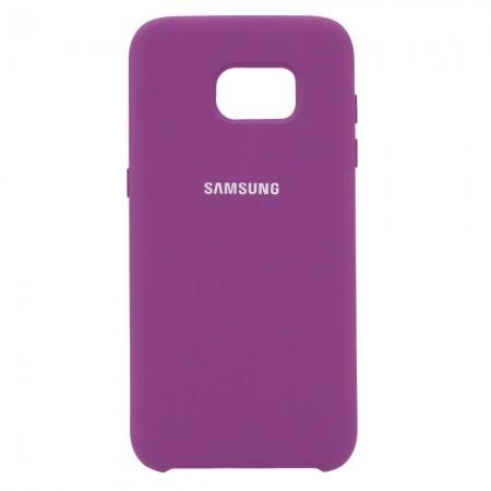 Чехол Silicone Case для Samsung Galaxy S7 Edge Фиолетовый (4522)