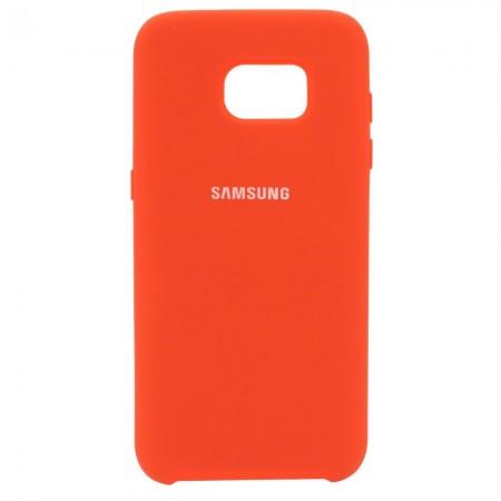 Чехол Silicone Case для Samsung Galaxy S7 Edge Красный (4527)