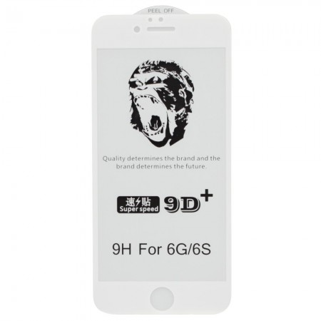 Защитное стекло 5D Gorilla для Apple iPhone 6 / 6s White (3985)