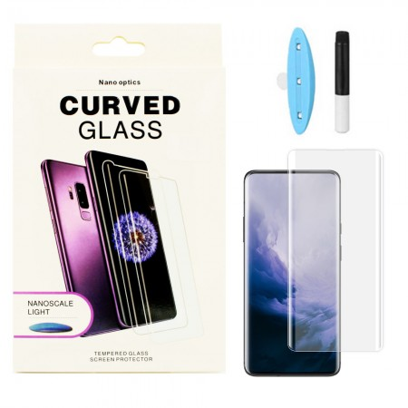 Защитное стекло 5D для Huawei P40 Pro UV (Жидкий клей) (6032)