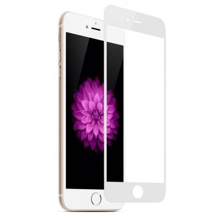 Защитное стекло 5D для iPhone 6 Plus / 6S Plus WHITE (белое)