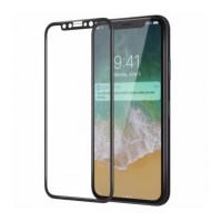 Защитное стекло 5D для iPhone X BLACK (черное)