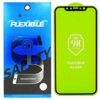 Гибкое защитное стекло BestSuit Flexible для Apple iPhone X/Xs BLACK Чёрное