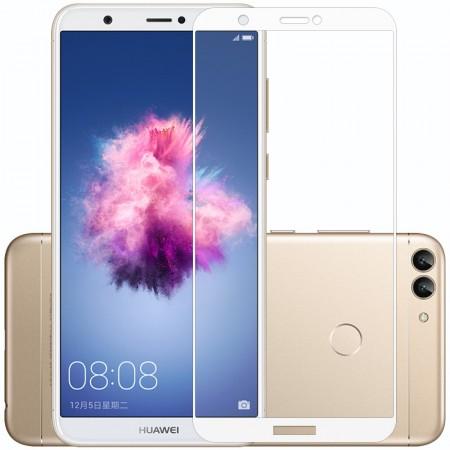 Защитное стекло Full Cover для Huawei P Smart WHITE (белое)