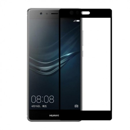 Защитное стекло Full Cover для Huawei P9 Lite BLACK (черное)